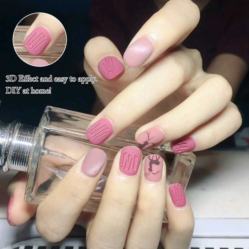 Newair Fake Nails gel christmas nail art stickers design for girl