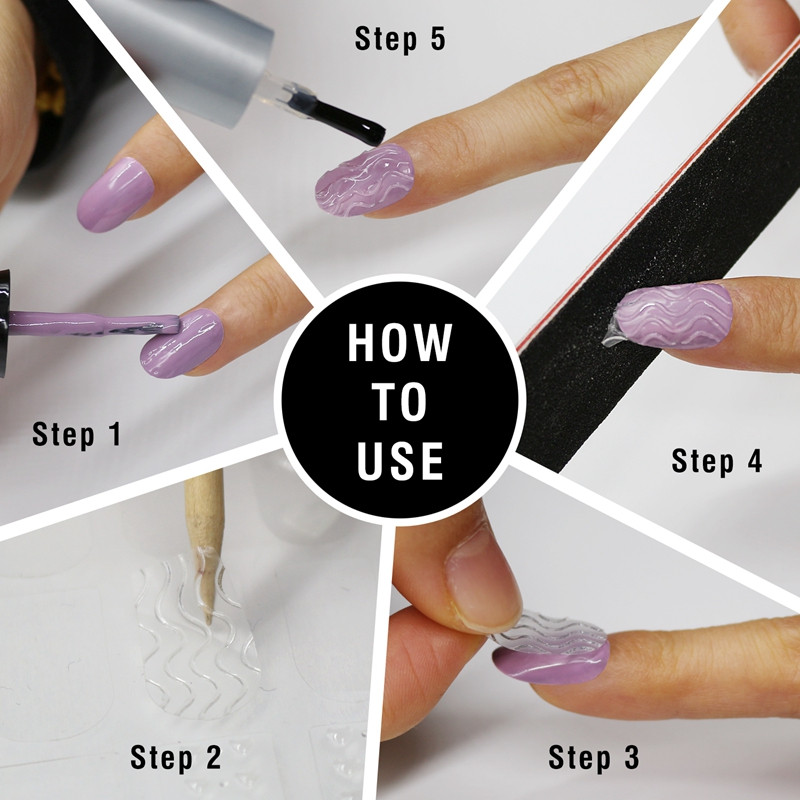 Newair Fake Nails transparent fingernail decals factory for girl-4