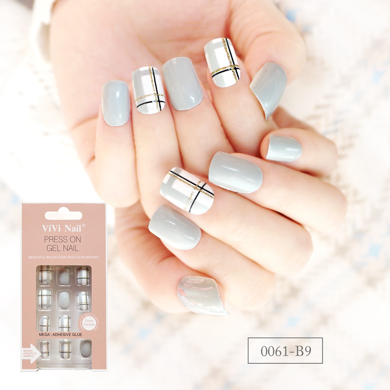 packaging short artificial nails customized for wedding-6