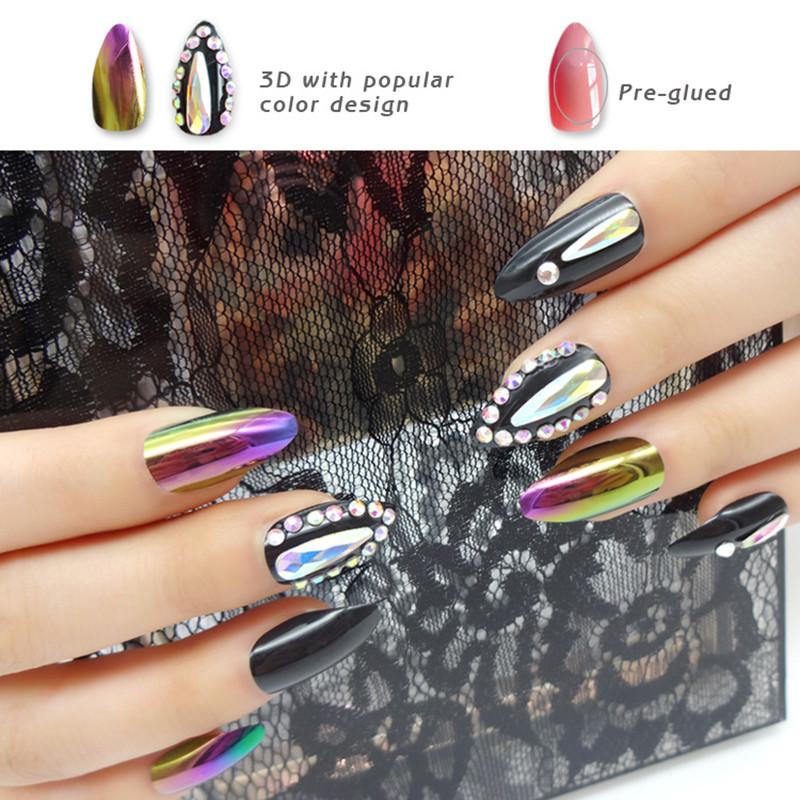 Newair Fake Nails 3d halloween press on nails manufacturer for girls-4
