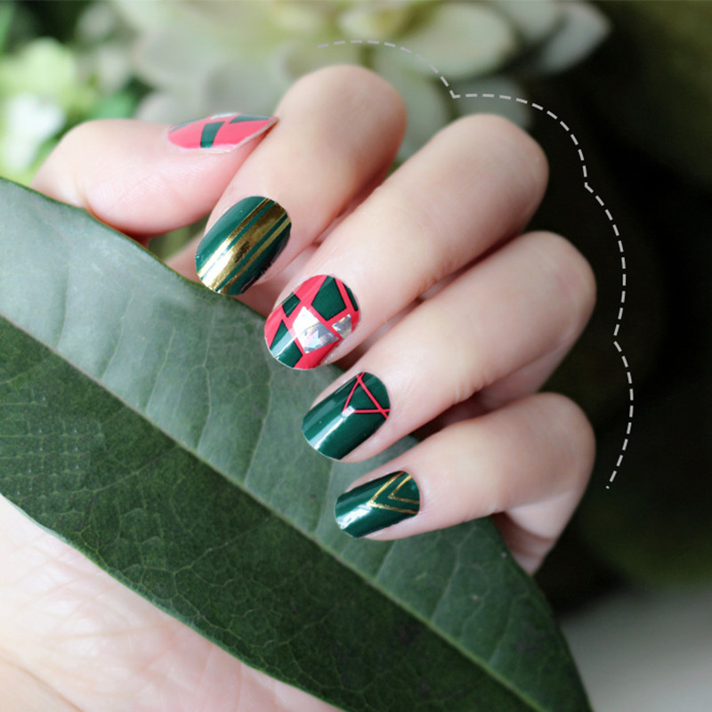 Wholesale Custom Nail Wraps nail art decoration sticker for women
