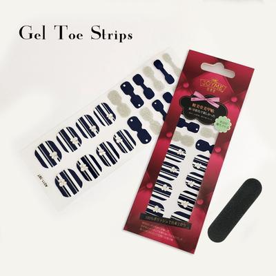 Nail sticker Supplier Gel Toe polish strips blue with glitter