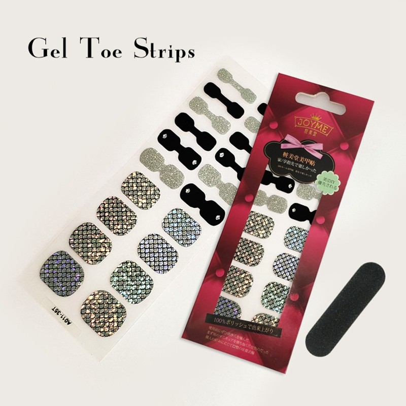 OEM custom Nail stickers Gel Toe nail polish strips