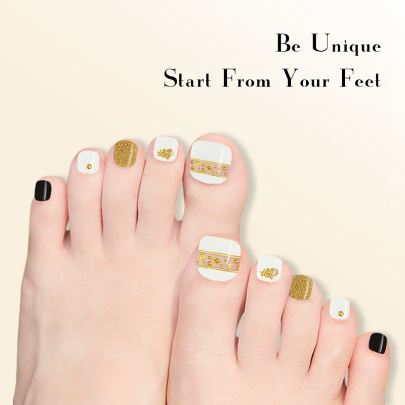 Newair Fake Nails gold incoco nail strips factory price for gifts-5