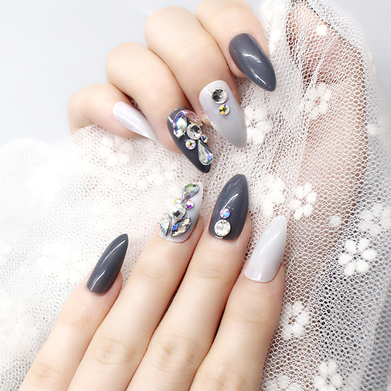 fashion false nails full cover factory price for girls-5