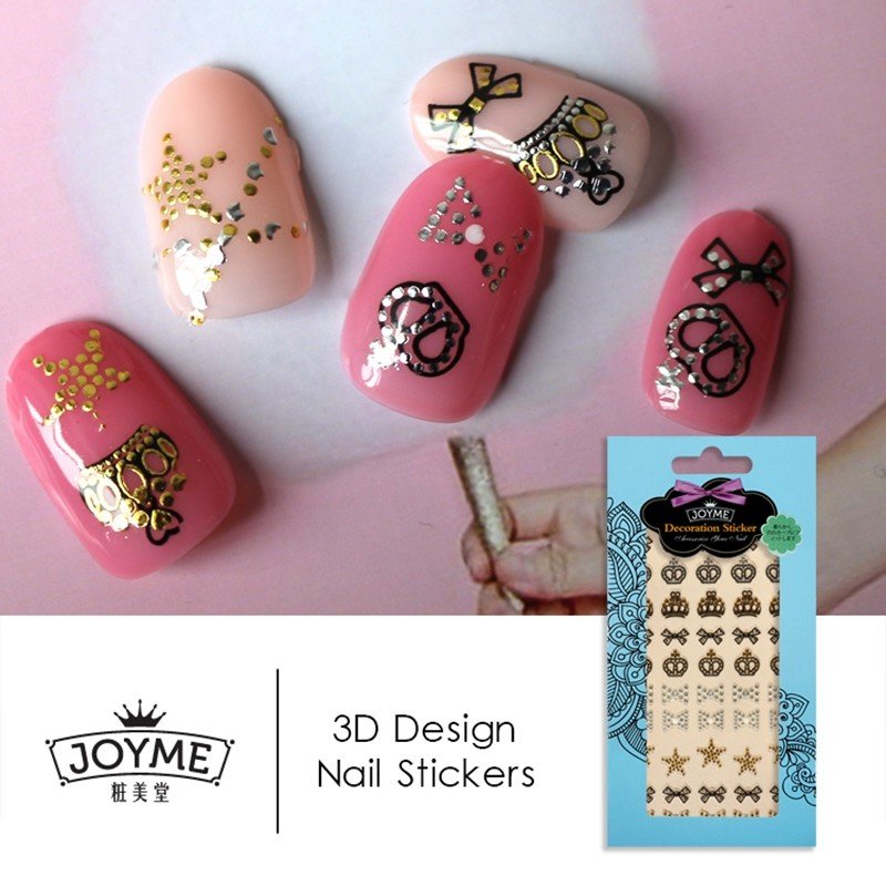 crown 3d metallic nail sticker
