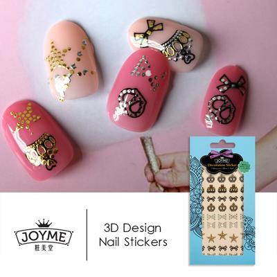 crown 3d metallic nail sticker