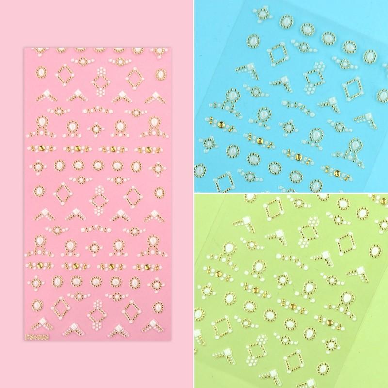 luxury jewelry nail sticker