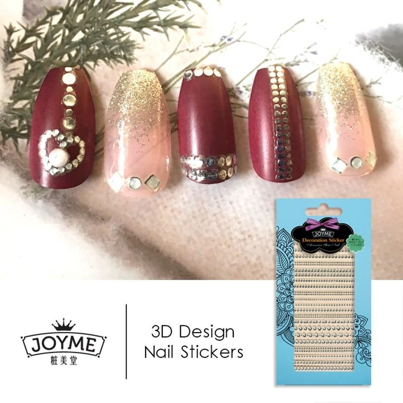 gold line false jewelry nail sticker
