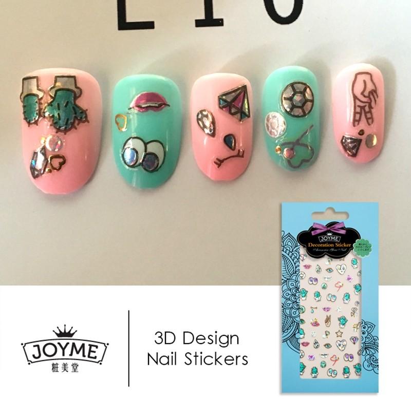 hologram lovely eyes nail sticker