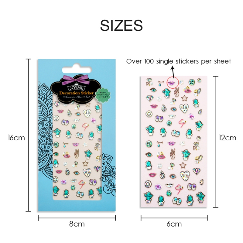 decorative flower nail stickers with good price for girl-5