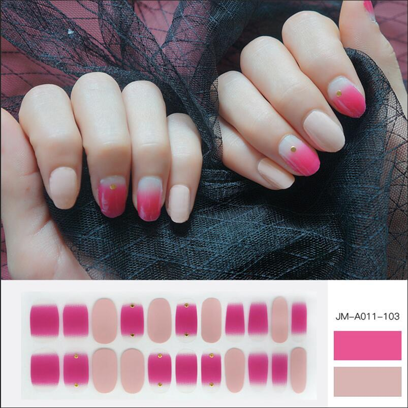 ombre rose nail strips