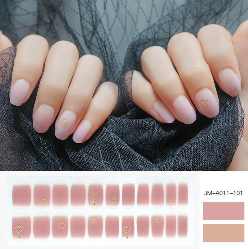 Newair Fake Nails green stick on nail polish strips factory price for gifts-1
