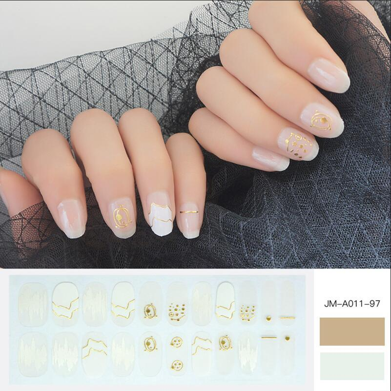 3D metallic nail strip