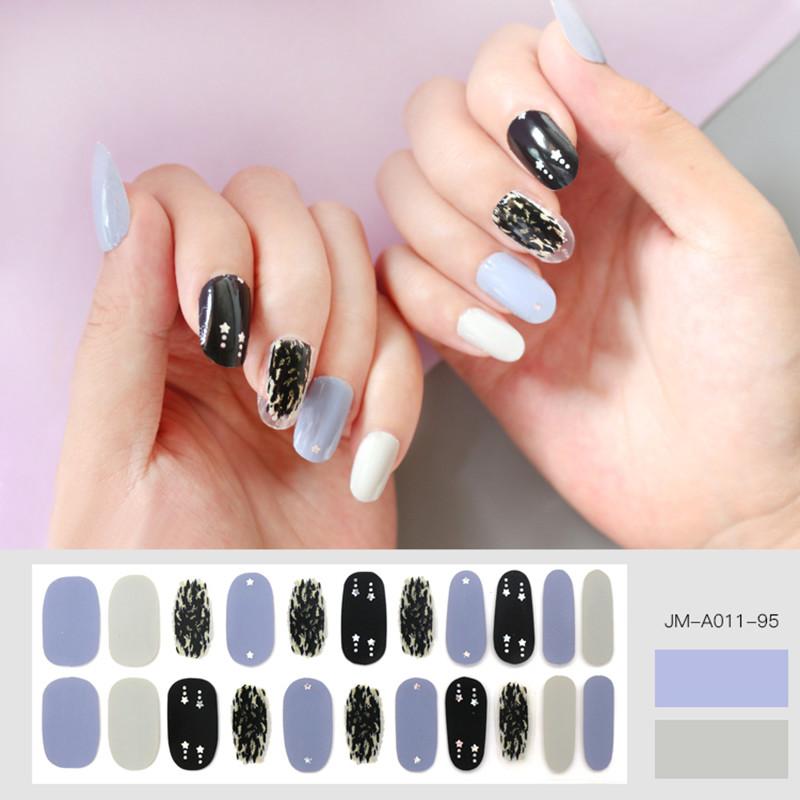 ombre gray nail strip