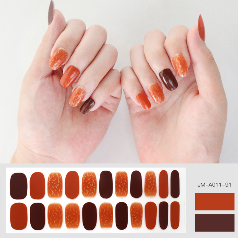 orange ombre nail strip