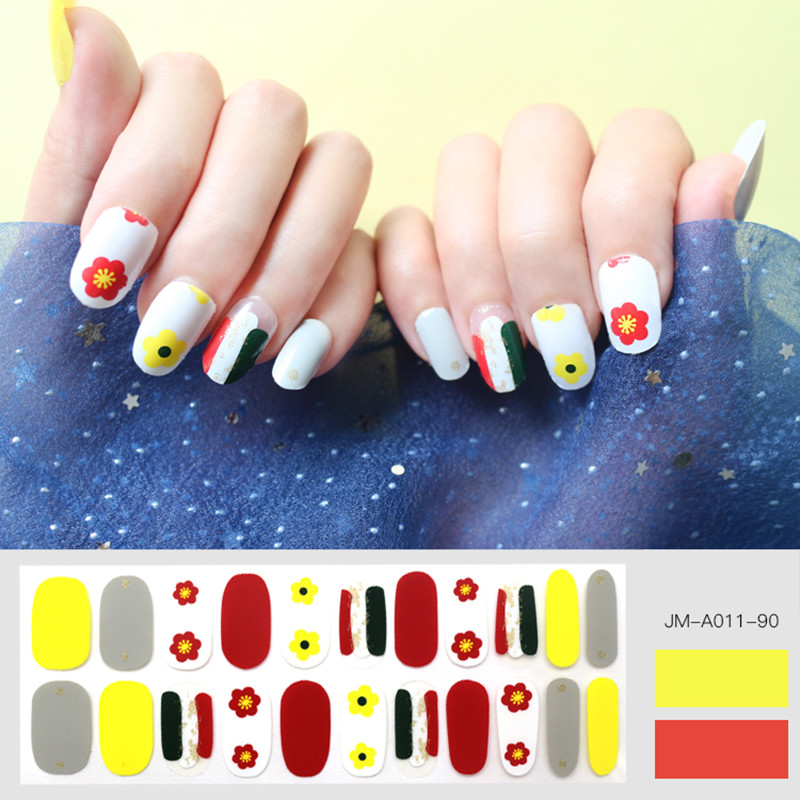 flower design nail strip for spring