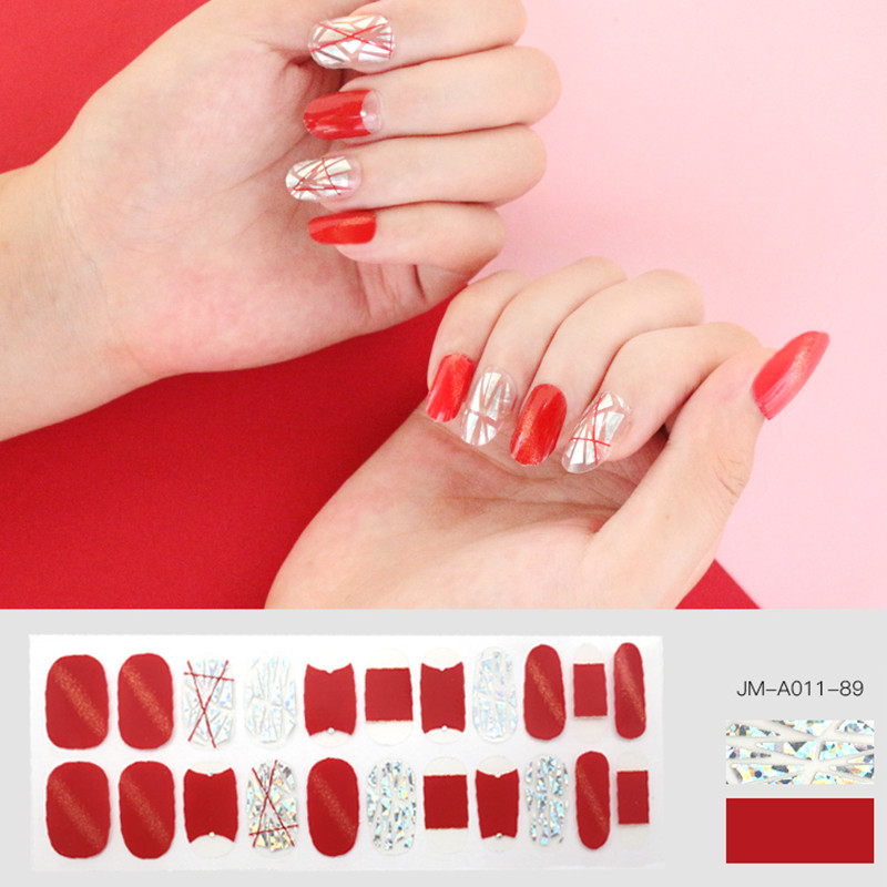 shiny hologram nail strip