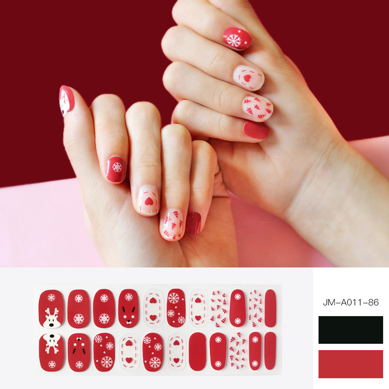 christmas design gel nail strip
