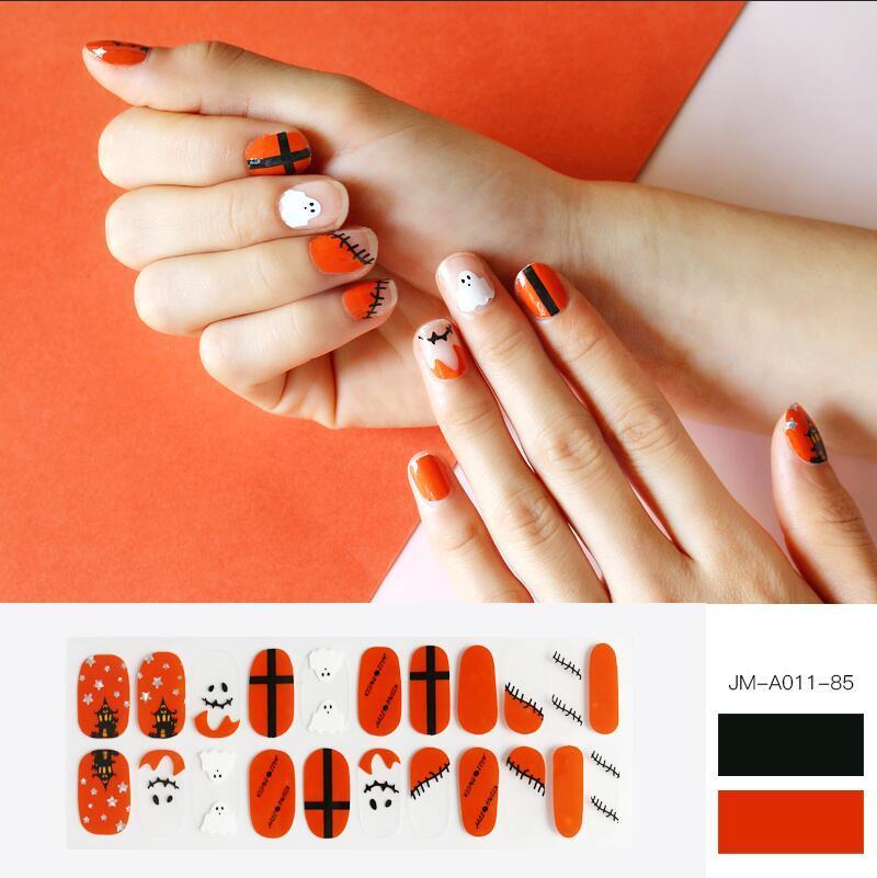holloween design gel nail strip