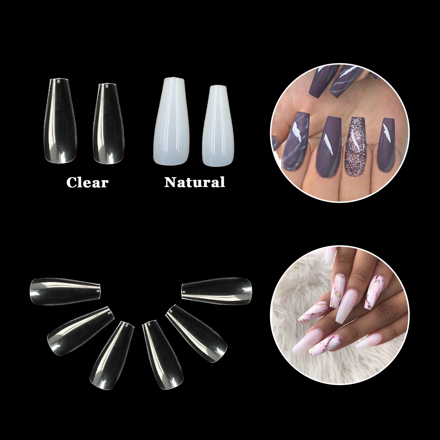 Newair Fake Nails 100pcs stiletto nail tips factory price for sale-6