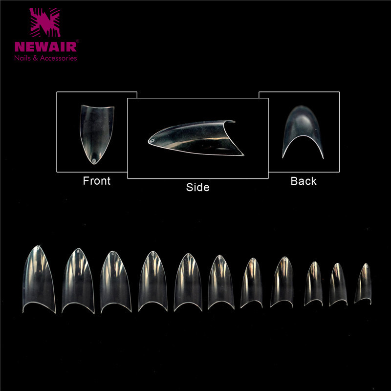 High Quality  Newair Full Cover Clear  Professional Nail Tips