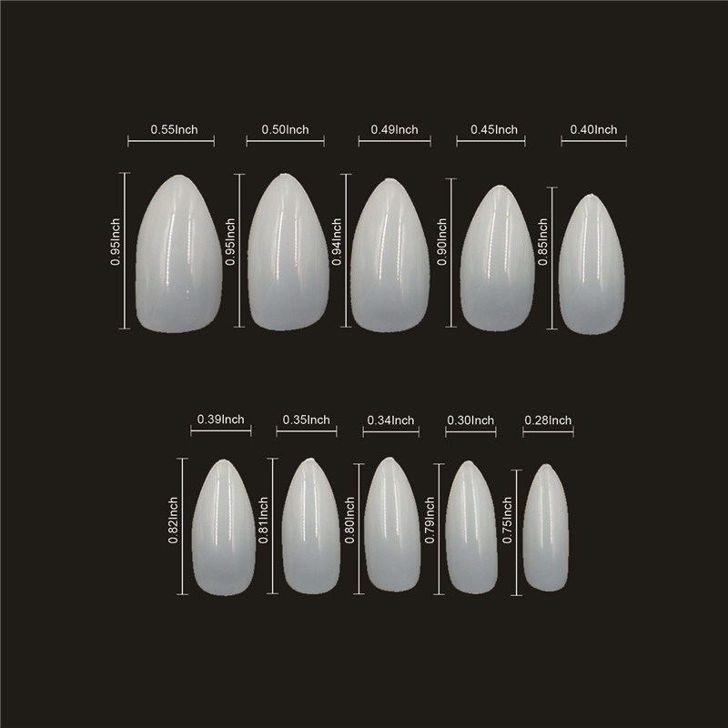 Newair  Professional Stiletto Nail Tips clear