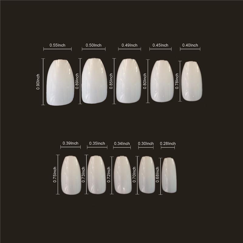 Newair Professional Coffin Nail Tips Clear &Natural