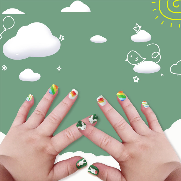 Newair Printing Colorful Nail Tip Of Children- Rabbit