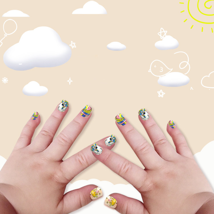 Newair Printing Colorful Nail Tip Of Children- Rainbow Bird