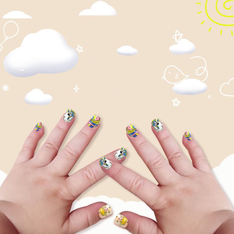 Newair Printing Colorful Nail Tip Of Children- Rainbow Bird