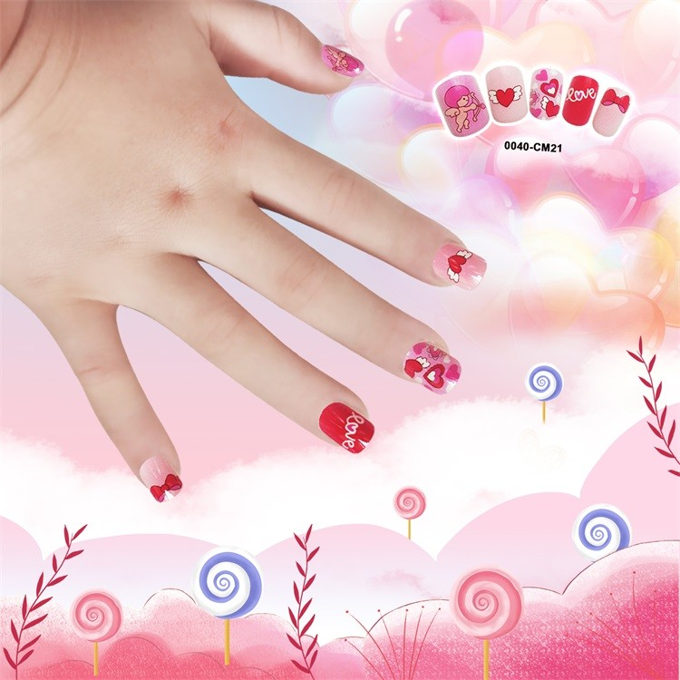 Newair Printing Colorful Nail Tip Of Children- Love