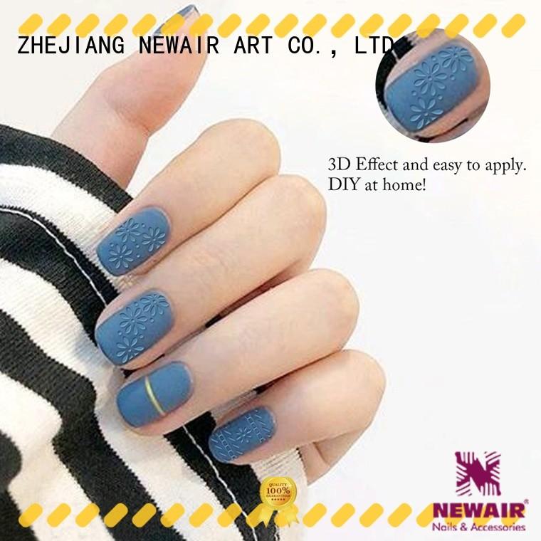 Newair Fake Nails diy gel nail decals for ladies