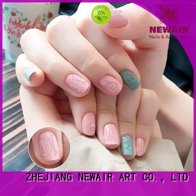 Newair Fake Nails popular holiday nail decals design for ladies