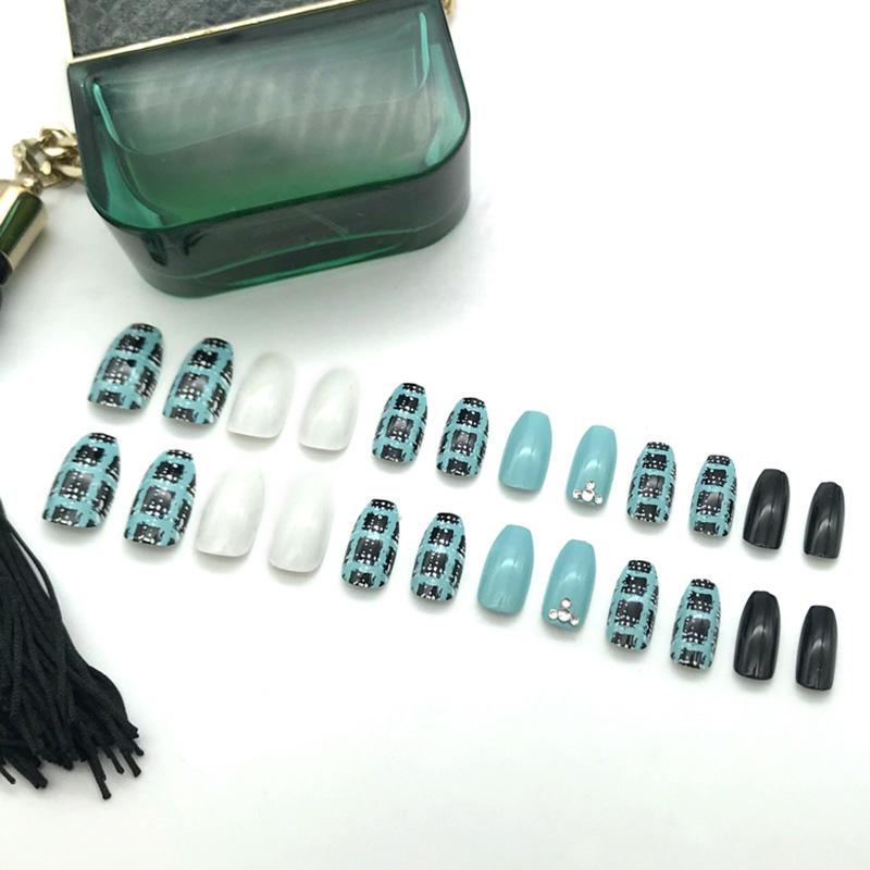 Newair Fake Nails grey false nails short supplier for christmas-1