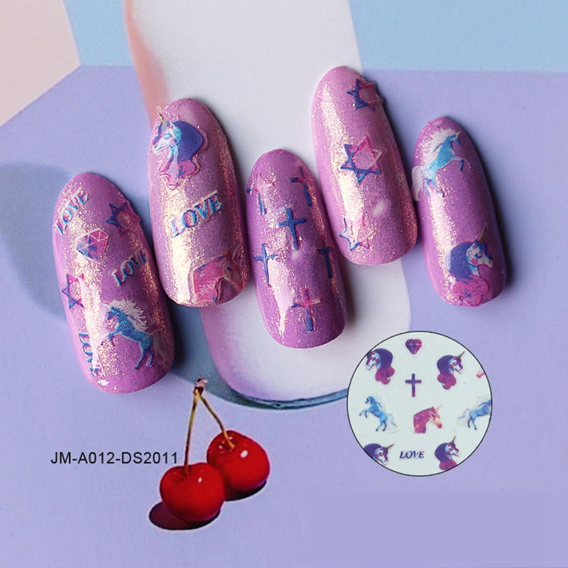pink star nail stickers factory for ladies-2