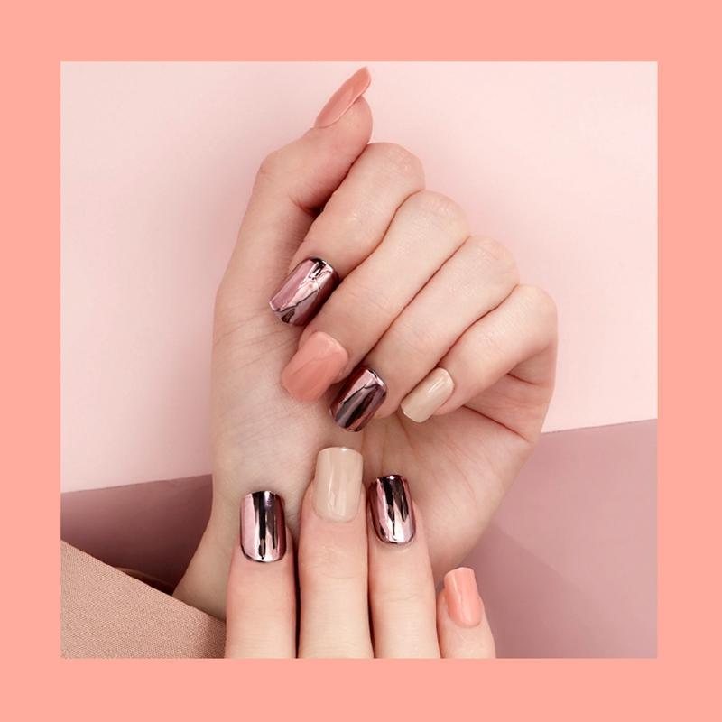 Newair Fake Nails matt press on nails short series for girls-3