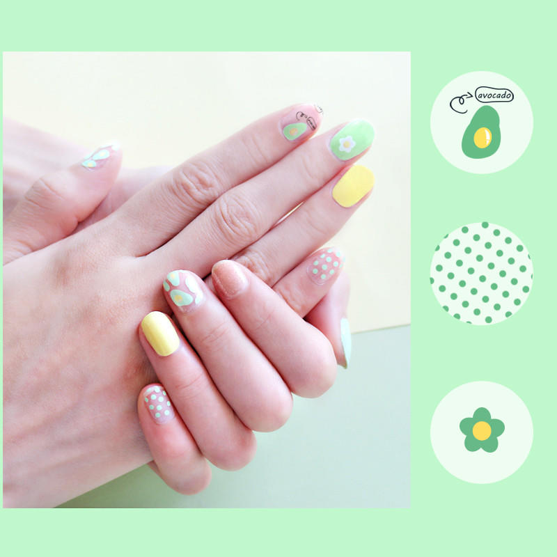 gray real nail polish strips supplier for women-3