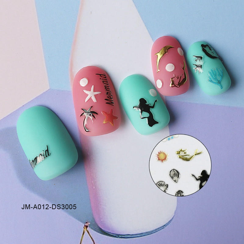 cute nail letter stickers with good price for commercial-1