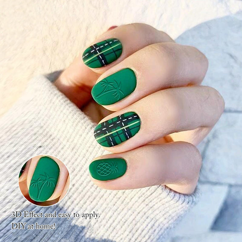 adhesive fingernail decals stickers for women-3