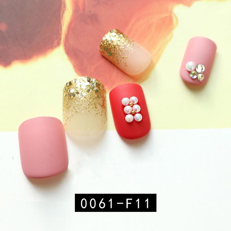 red press on nails amazon from China for lady-3