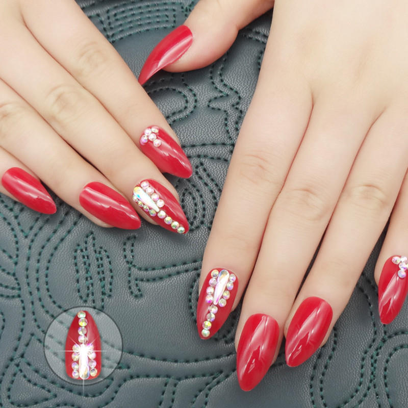 white impress press on nails manufacturer for lady-1