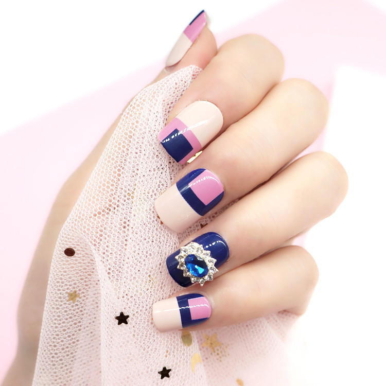 artifical etsy press on nails customized for bride-2