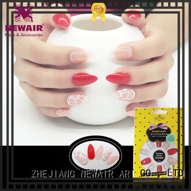yellow striped nails factory price for women