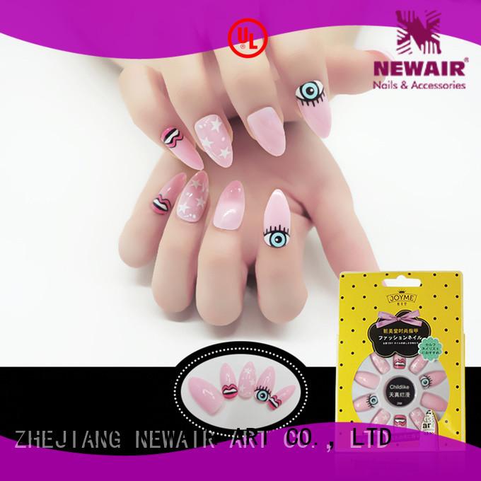 popular short square false nails factory price for girls