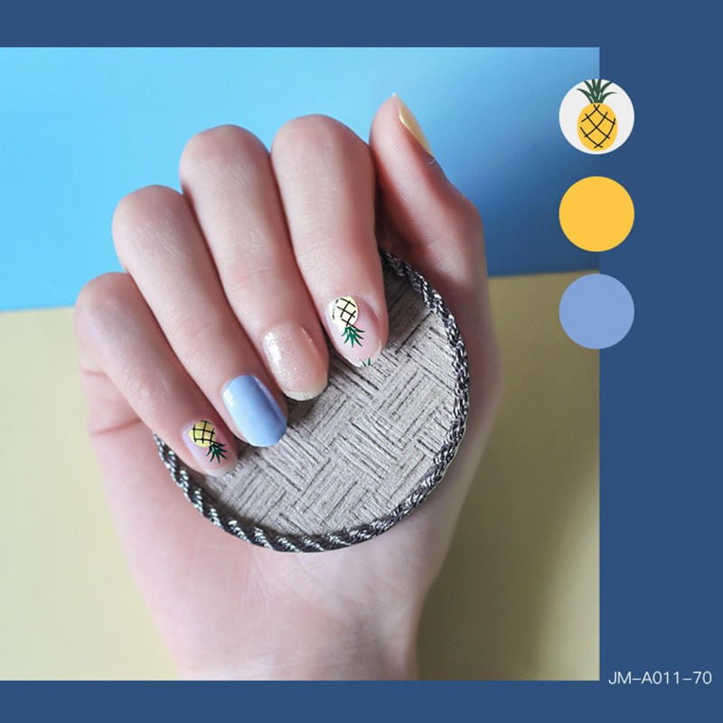 gold incoco nail strips wholesale for girl-2