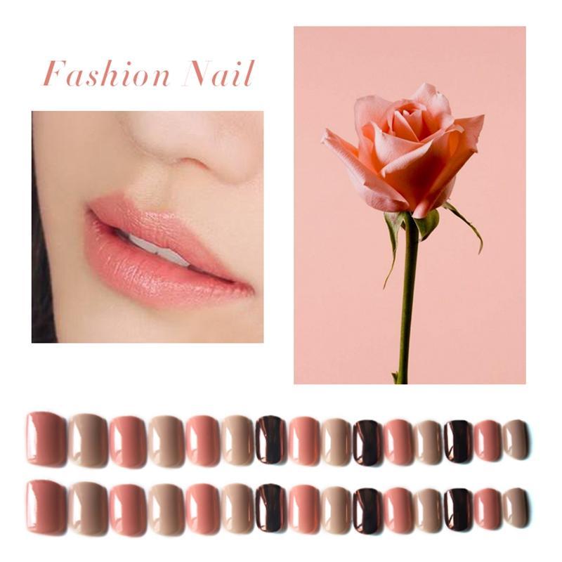 Newair Fake Nails matt press on nails short series for girls-1