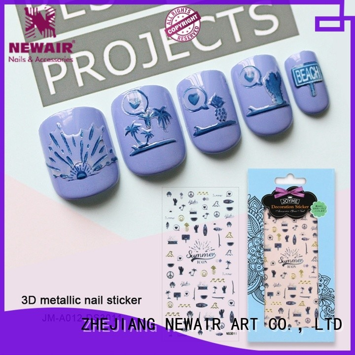 Newair Fake Nails decorative 3d nail stickers for ladies