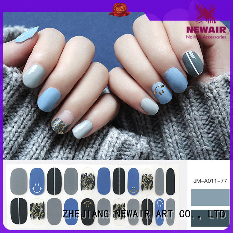 yellow stripper nails factory price for women