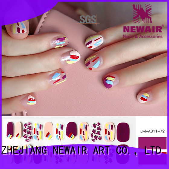Newair Fake Nails gold nail polish strips personalized for women